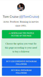 select download and buy follower